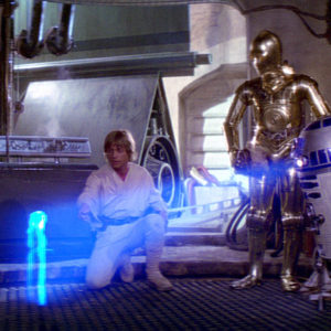 Luke, C3P0, and R2D2